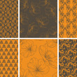 Set of seamless wallpaper with floral pattern — Stock Vector #6310668