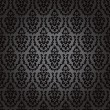 Seamless wallpaper baroque black — Stock Vector