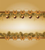 Christmas frame with balls — Stock Vector