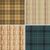 Collection de wallpapers de textile sans soudure — Vecteur