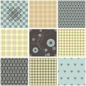 Coleção de wallpapers de têxteis sem costura — Vetorial Stock