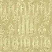 Sans couture papier peint baroque — Vecteur