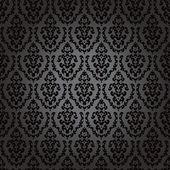 Seamless wallpaper baroque black — Stock Vector