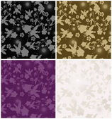 Set of seamless floral backgrounds — Stock Vector