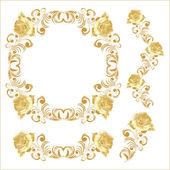 Set of floral vignettes — Wektor stockowy
