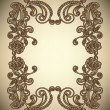 Vintage Frame with abstract flowers - Stock Vector