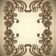 Vintage Frame with abstract flowers - Image vectorielle