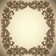 Vintage Frame with abstract flowers — Stock Vector