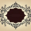Vintage frame with floral ornament — Stock Vector #6470820