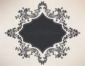 Vintage frame with floral ornament — Cтоковый вектор