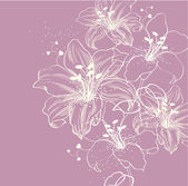 Floral background with blooming lilies — Vetorial Stock