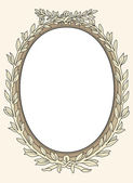 Vintage photo frame ornamental vector — Stock Vector