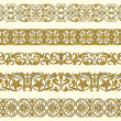 Set of five decorative borders — Stock Vector