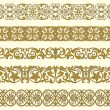 Set of five decorative borders — Stockvectorbeeld