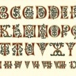 图库矢量图片: Alphabet Medieval and Romnumerals