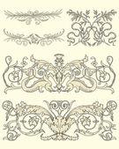 Set of five classical ornaments — Stockvektor