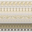 set di quattro bordi decorativi — Vettoriale Stock #6352780