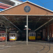 Classic tram depot — Stock Photo