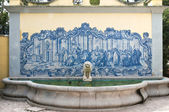 Portuguese tiled ancient fountain — Stock Photo