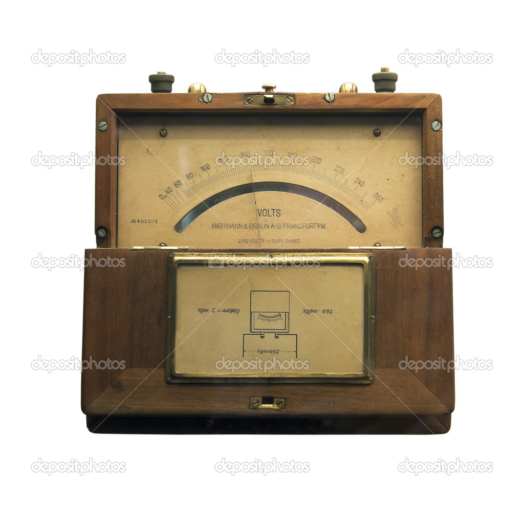 Antique Volt Meter : Vintage voltmeter — stock photo paulrommer