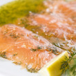 Gravlax - salmon — Stock Photo
