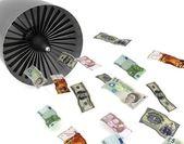 Wasted money — Stock Photo