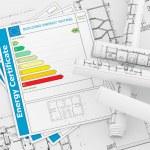 Energy Certificate concept — Stock Photo
