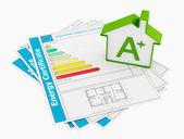 Energy certificate — Foto Stock
