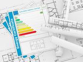 Certificaat energieconcept — Stockfoto
