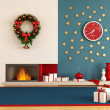 Modern christmas interior — Stock Photo