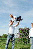 Family Fun with young boy — Stock Photo