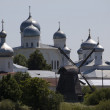 Yuriev Monastery in Novgorod the Great, Russia — Stock Photo