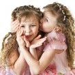Stock Photo: Beautiful little sisters