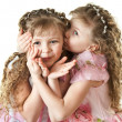 Beautiful little sisters - Stock Photo