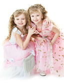 Twin princesses — Stock Photo