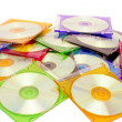 Colorful CDs in boxes — Stock Photo #5458128