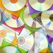 Colorful CDs in boxes — Stock Photo #5458142