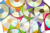 Colorful CDs in boxes — Stock Photo