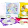 Stock Photo: Colorful CDs in boxes