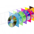 CD in colored boxes — Stock Photo #5474645