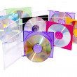 Stock Photo: cd in the disclosed colored boxes
