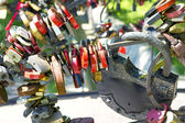 Many different padlocks — Stock Photo