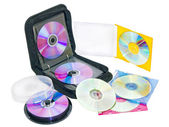 Purse for DVD and CD discs — Stock Photo