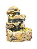 Small decorative stone waterfall — Stock Photo