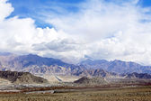 City in the valley of Ladakh Himalayas — Stock Photo