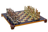Cast iron lacquered chess board — Stock Photo