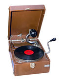 Old portable phonograph — Stock Photo