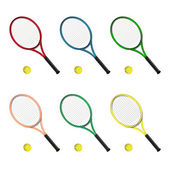 Couleurs des raquettes de tennis — Stock Photo