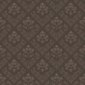 Brown vintage seamless wallpaper — Stock Vector