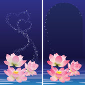 Floral banners. Lotus. — Stock Vector